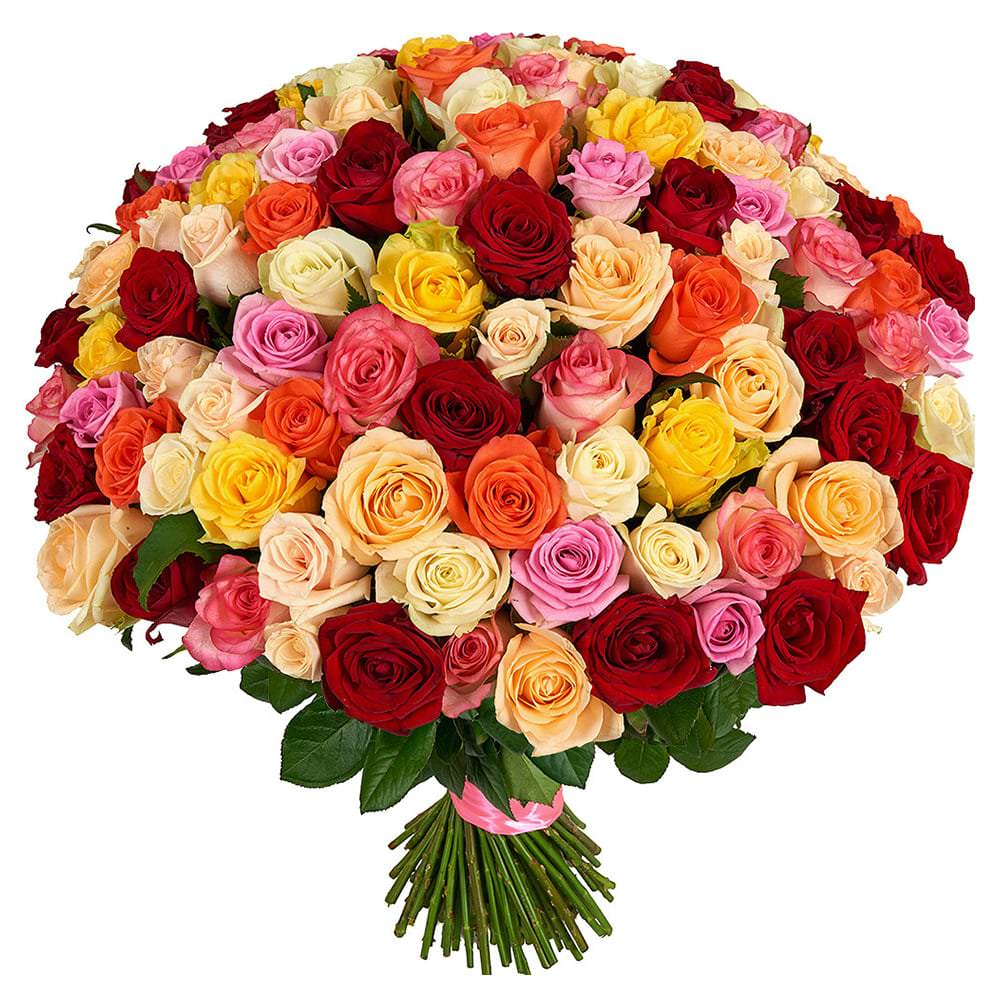 Открытки разноцветные розы